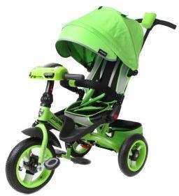 Велосипед 3кол. с разворотным сиденьем Leader 360° 12x10 AIR Car, зел.