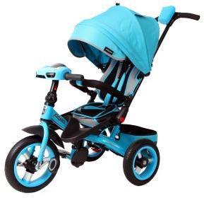 Велосипед 3кол. с разворотным сиденьем Leader 360° 12x10 AIR Car, бирюз.