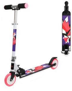 Скутер X-Match WOW Animals, 125 мм PVC, фиол.-роз.