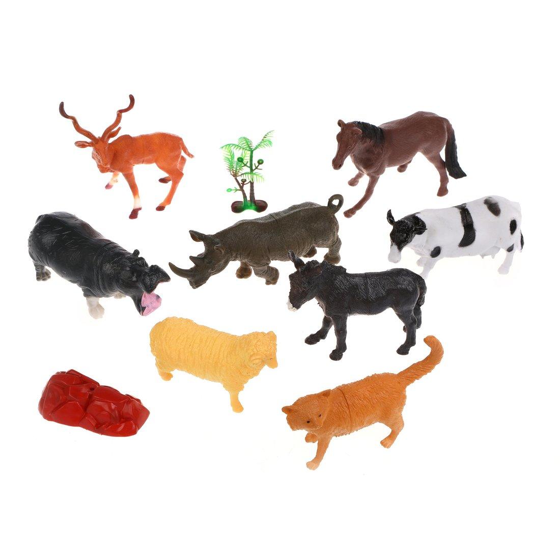 Набор животных, 8 шт., аксессуары, пакет