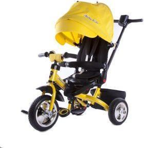 Велосипед 3кол. Leader, разворот сиденья, желт.