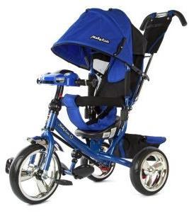 "Велосипед 3кол. Comfort, светомуз.панель, 12/10"" кол., син."