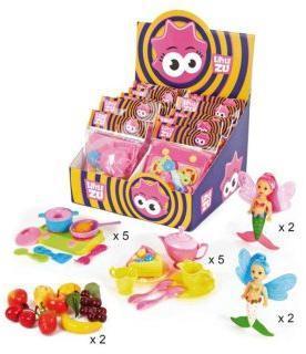 Куколка Фея-русалка, набор Чаепитие, Учимся готовить, Фрукты, 16 шт, диспл.