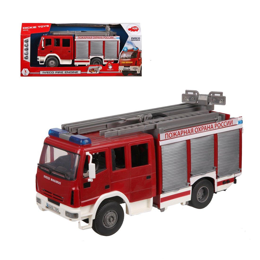 Пожарная машина с водой, 30см, св., зв, св.ход.