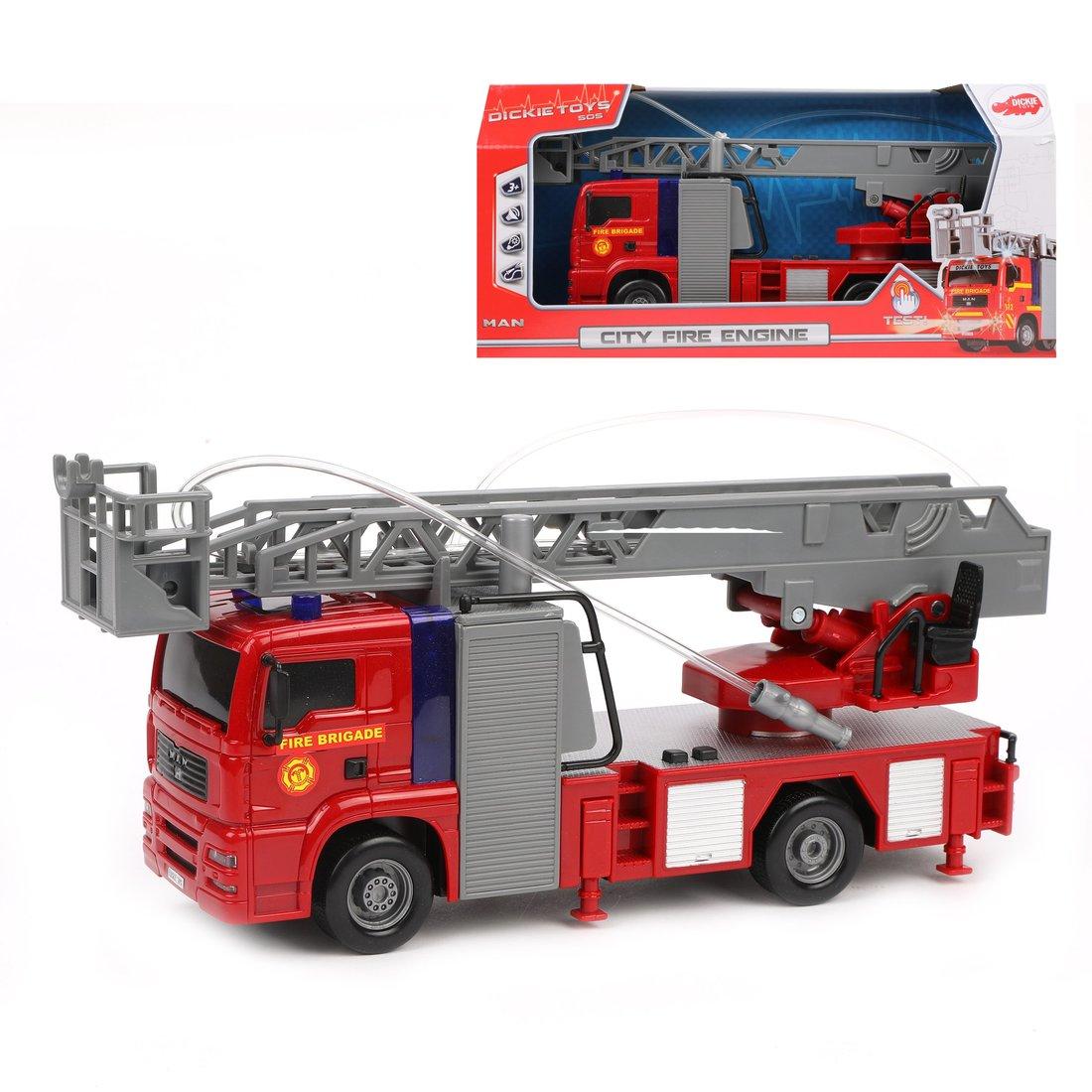 Пожарная машина, фрикц.., 29 см, св., зв.,вода.