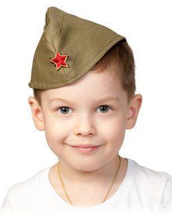 Пилотка ХАКИ детская р.51-53