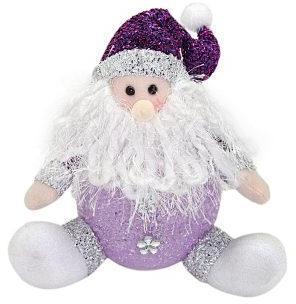 Светильник LED Дед Мороз 18 см, фиолет., элементы питания входят в комплект