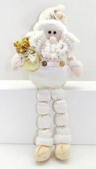 Кукла Дед Мороз 43 см, сид, золото