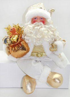 Кукла Дед Мороз 43 см, золото