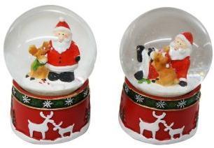 Шар декор. Дед Мороз 65 мм, в ассорт.