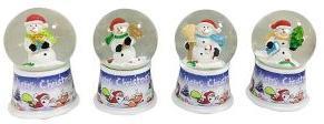 Шар декор. Снеговик 45 мм, свет, эл.пит.вх.в копл., в ассорт.