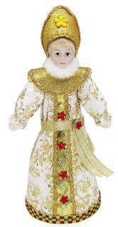 Кукла Снегурочка 20 см, зол.