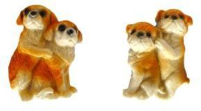 Сувенир магнит Собака обнимашка 7,5 см, в ассорт.